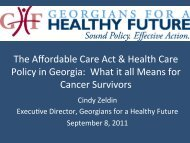 The Affordable Care Act & Health Care Policy in Georgia: What it all