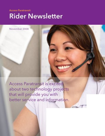 Rider Newsletter - Access Services