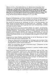Handlungen und Haltungen der NVA während des ... - AGGI-INFO.DE