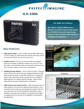 Fastec IL3-100L - Downloads