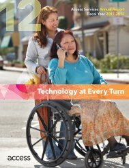 Technology at Every Turn - Access Services
