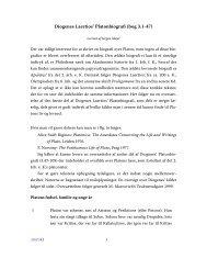 Diogenes Laertios' Platonbiografi (bog 3.1-47) - Aigis