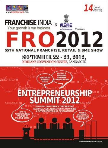 Conference Brochure - Bangalore - Franchise India