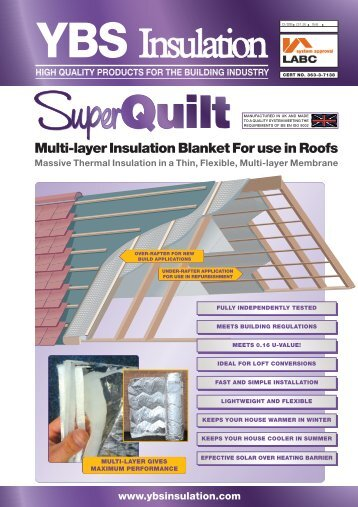 Multi-layer Insulation Blanket For use in Roofs - GRM Insulation ...
