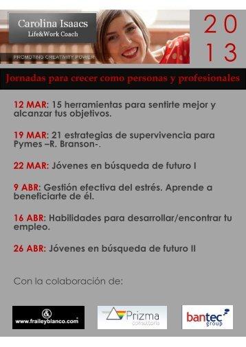 Talleres Carolina Isaacs 2013 Santander Coach en Fraile&Blanco