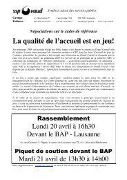 Tract à l'intention du personnel - SSP - Vaud / Syndicat des services ...