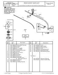 Weed Eater GTI 15 - Barrett Small Engine
