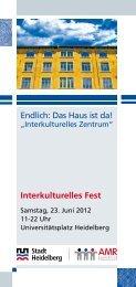 Flyer zum Interkulturellen Fest