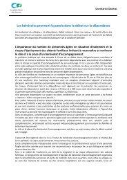 Tribune du 9 février 2011 sur la dépendance - petits frères des ...