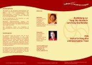 Feng Shui Beraterausbildung - Basis - Lebens -t- raumkonzepte