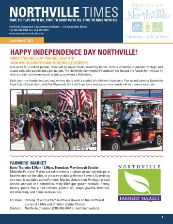 July/August - Downtown Northville!