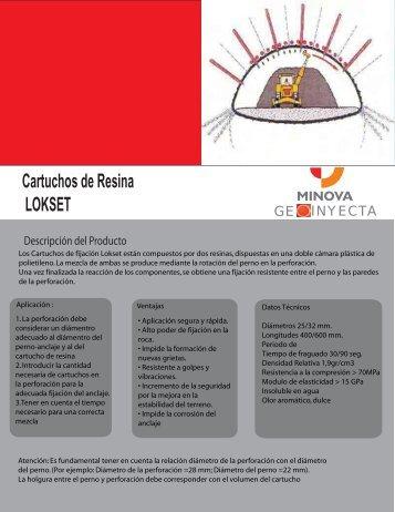 Cartuchos de Resina LOKSET - Geoinyecta