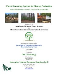 Forest Harvesting Systems for Biomass Production RE ... - Mass.Gov