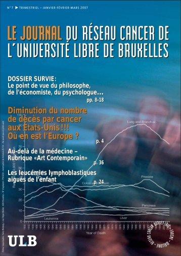 Diminution du nombre de décès par cancer - Institut Jules Bordet ...