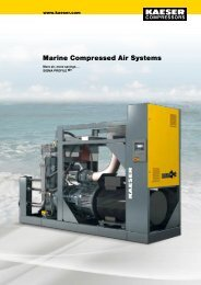Marine Compressed Air Systems - Kaeser Kompressoren