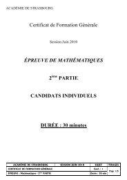 CFG - 2010 - mathematiques - sujet 2e partie - Académie de ...
