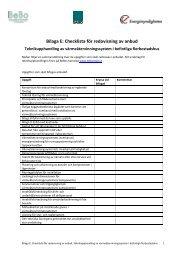 Bilaga E: Checklista för redovisning av anbud - BeBostad.se