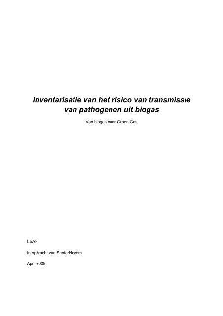 Rapport 07 419 Pathogenen final version - Agentschap NL