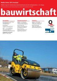 Mediadaten 2013 Ausland - Schweizer Bauwirtschaft
