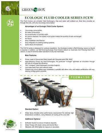 FCEW Green Box Ecologic Fluid Cooler Specifications