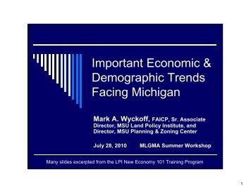 Economic Trends Facing Michigan - Michigan Local Government ...