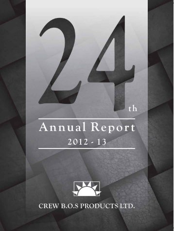 Final CREW Annual Report 2013.pmd - Crew BOS Products Limited
