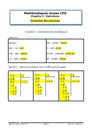 Correction - Matheur