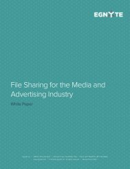 File Sharing for the Media and Advertising Industry - Egnyte