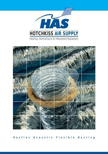 HASFLEX ML Acoustic Flexible Ducting - Hotchkiss Air Supply