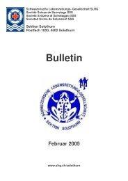 BULLETIN 2005 - SLRG Solothurn