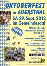 im Gemeindesaal - Auersthaler - Volkspartei Niederösterreich