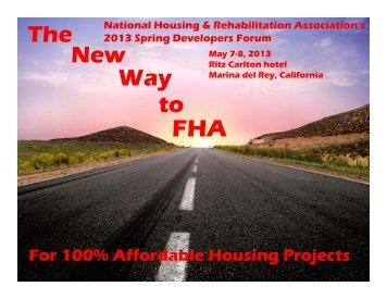 Wade Norris - National Housing & Rehabilitation Association