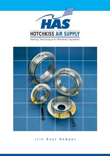 Iris Duct Damper - Hotchkiss Air Supply