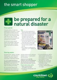be prepared for a natural disaster - Countdown