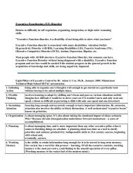 Executive Functioning (EF) Disorder - Needham SEPAC
