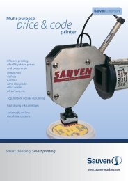 price & code - Sauven Marking