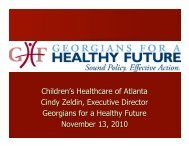 The Affordable Care Act & Young Adults - Georgians for a Healthy ...