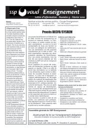 Numéro 9 - SSP - Vaud / Syndicat des services publics