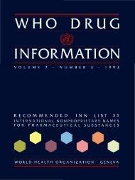 Recommended INN List 33 - World Health Organization