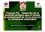 """Proyecto FIA: """"Desarrollo de un acaricida biológico para el manejo ..."""