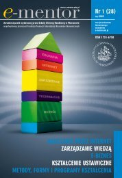 e-edukacja w kraju - E-mentor