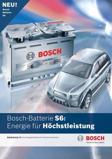 Bosch-Batterie S6: Energie für Höchstleistung