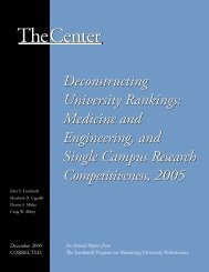 Deconstructing University Rankings - The Center for Measuring ...