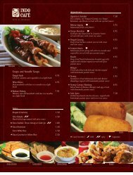 Appetizers Soups and Noodle Soups Sides - Indo Cafe