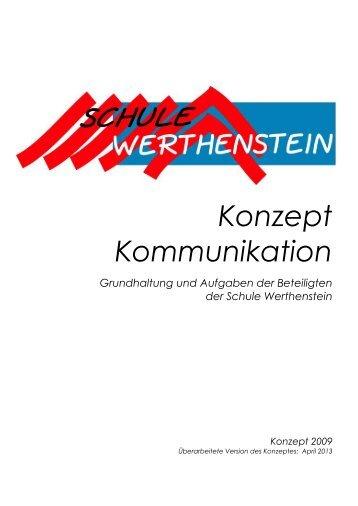 Konzept Kommunikation - Schule Werthenstein