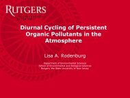 Diurnal Cycling of Persistent Organic Pollutants in the Atmosphere