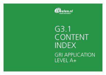 GRI tabel 2012 - Beelen