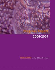 Progress Report 2006-2007 - Debye Institute - Universiteit Utrecht
