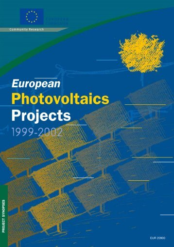 European Photovoltaics Projects 1999-2002