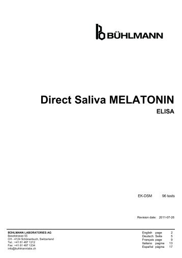 Direct Saliva MELATONIN ELISA - Tstlab.com